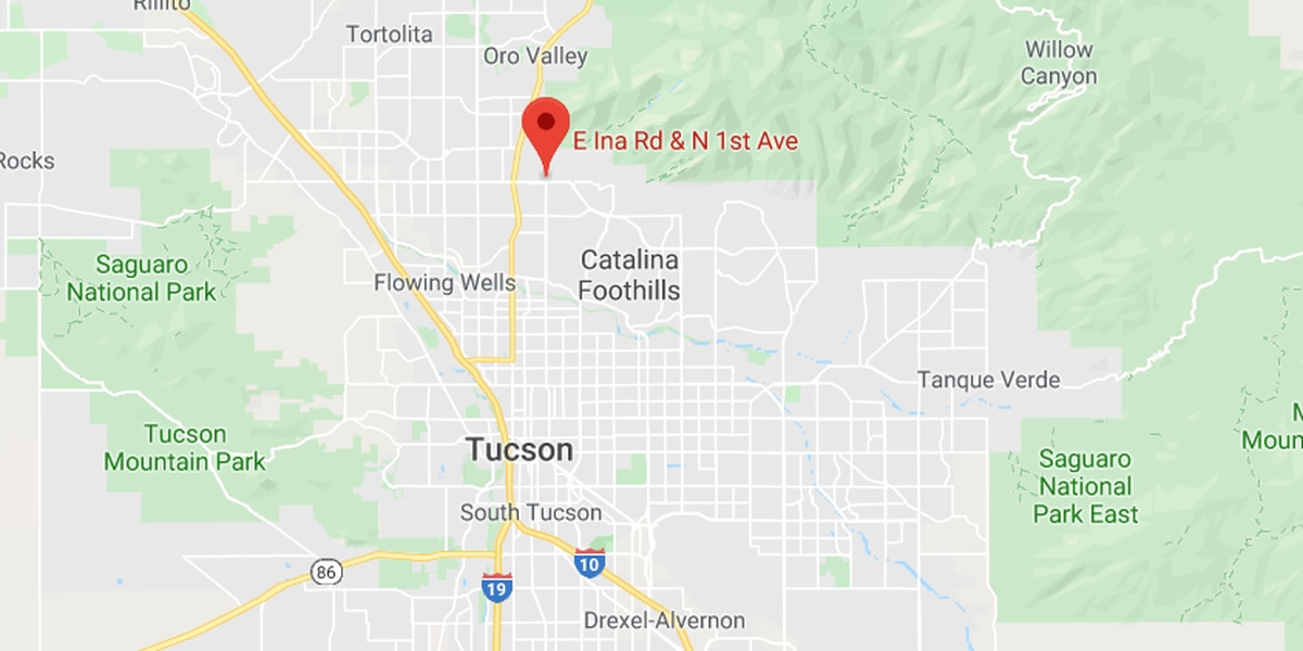 Pickup truck pulling camper catches fire north of Tucson