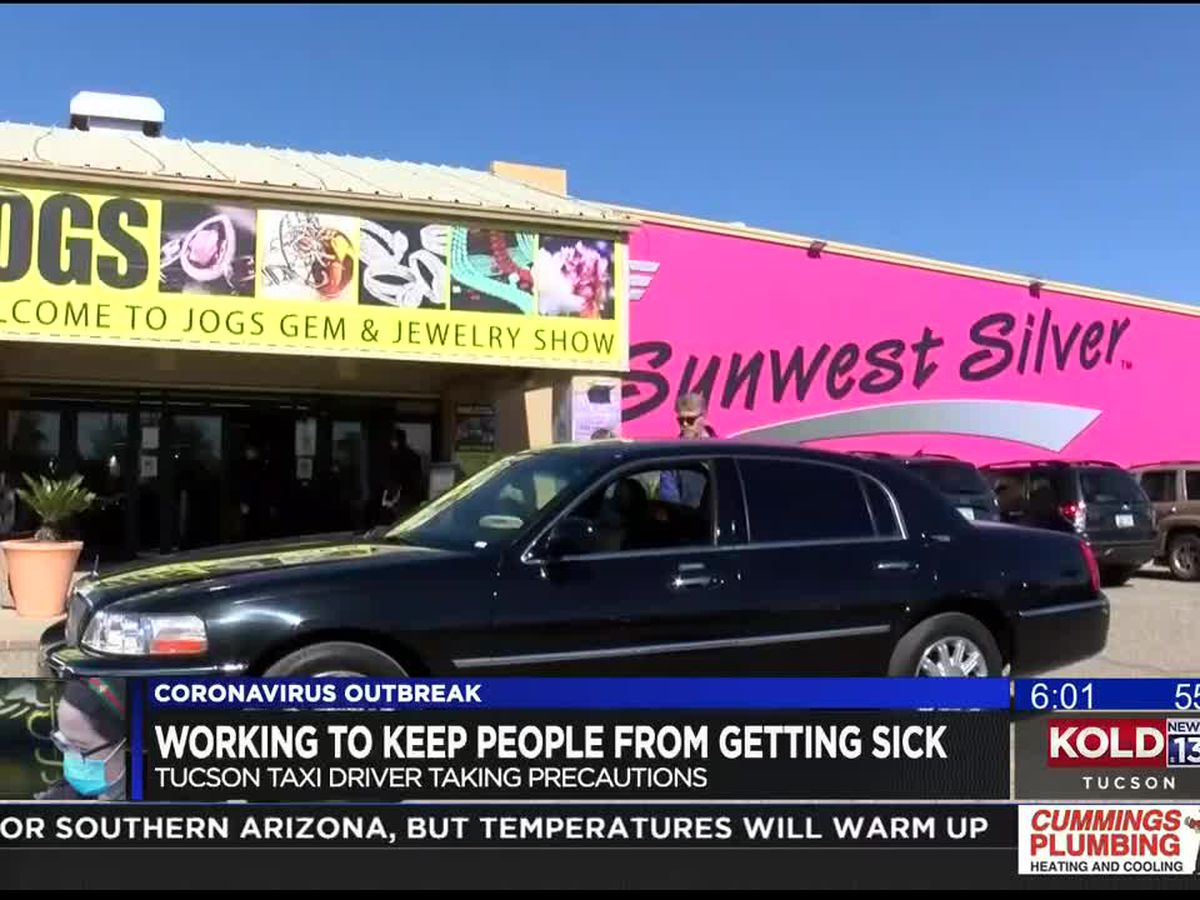 Tucson driver disinfects work space, fearing novel coronavirus
