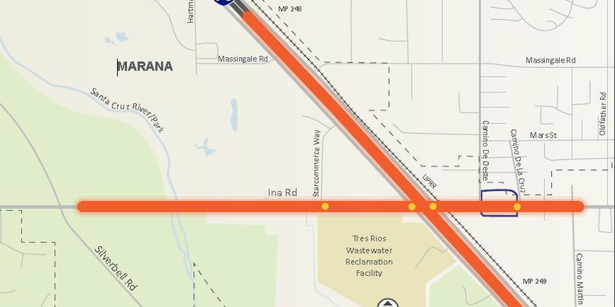 Ina Road traffic shift west of I-10 set for next week