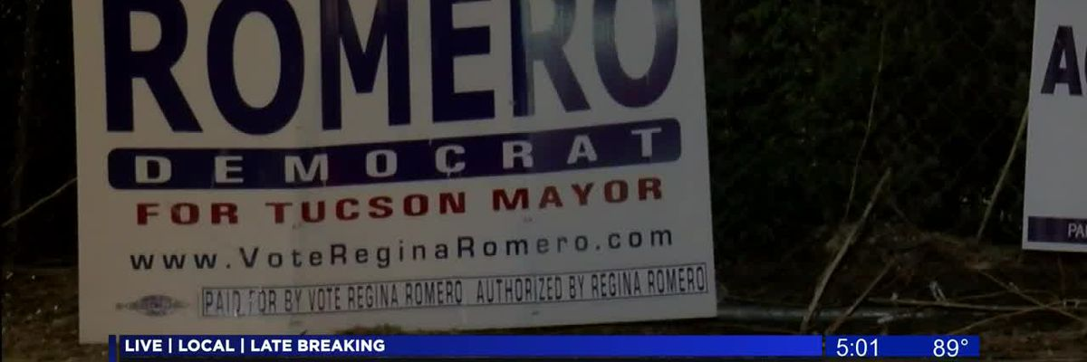 Tucson candidate challenges others after 'orchestrated removal' of campaign signs