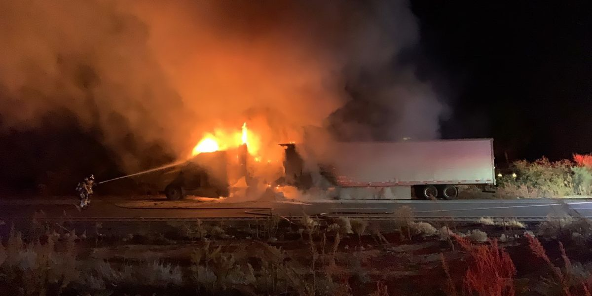Truck fire results in lane restriction on NB I-19 north of Green Valley