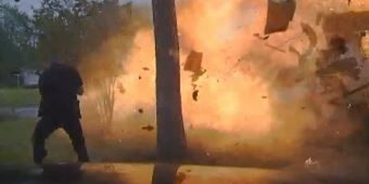 WATCH: Officers survive home explosion in Texas