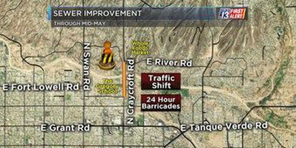 Construction to impact commute on Craycroft Road through May