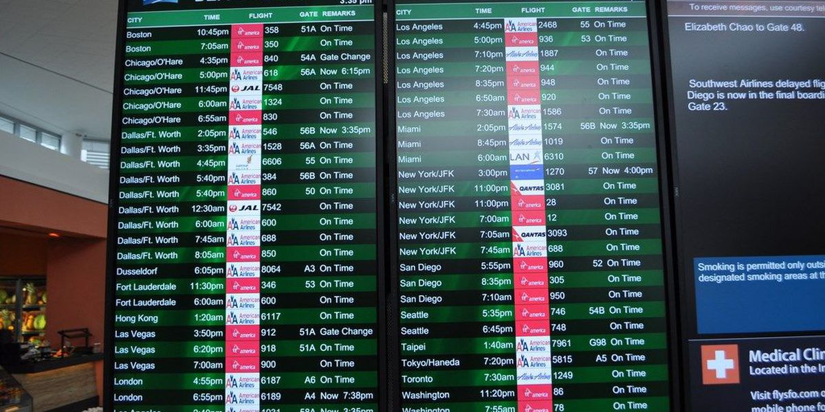 LIVE DATA: Check flight delays across country