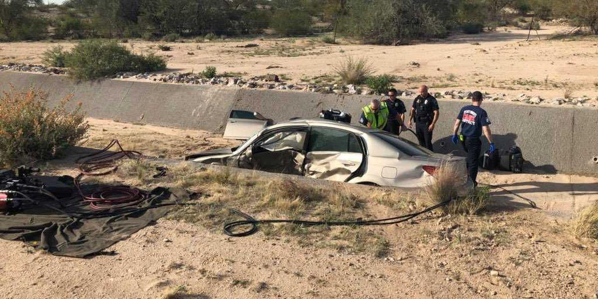 Crash in Marana leaves vehicle in ditch