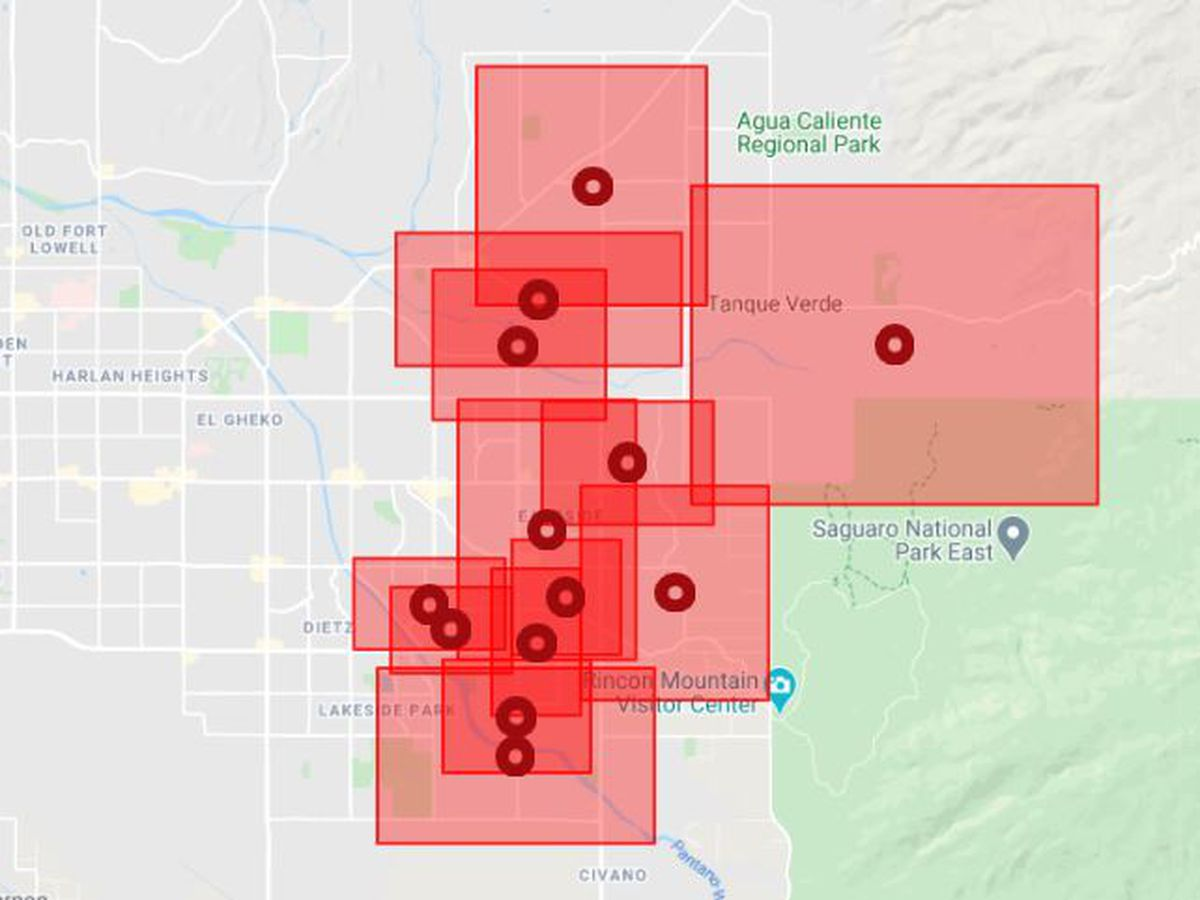 TEP outage leaves thousands without power during winter weather