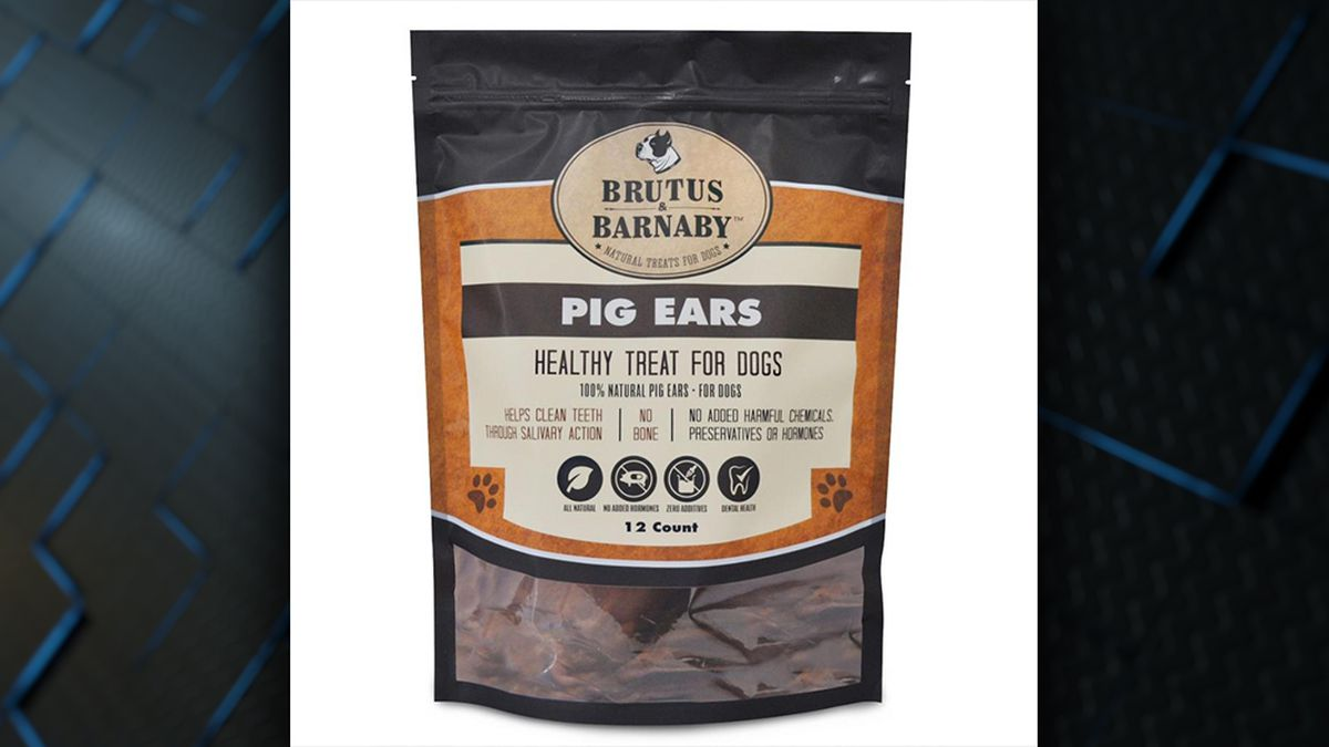 Natural dog treats from Brutus & Barnaby recalled for possible salmonella risk