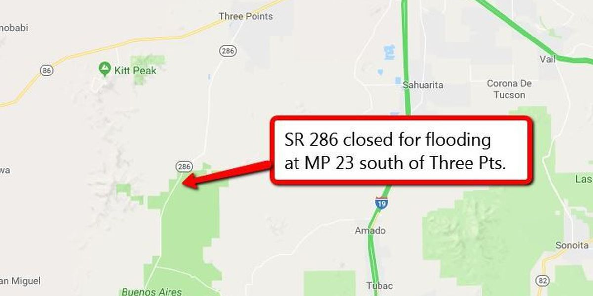 Flooding causes temporary closure of SR 286 south of Three Points