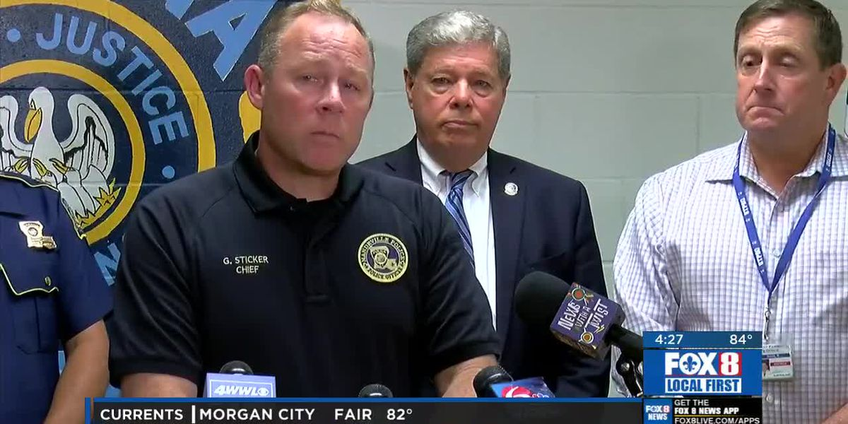 Law Enforcement press conference related to Mandeville officer shooting
