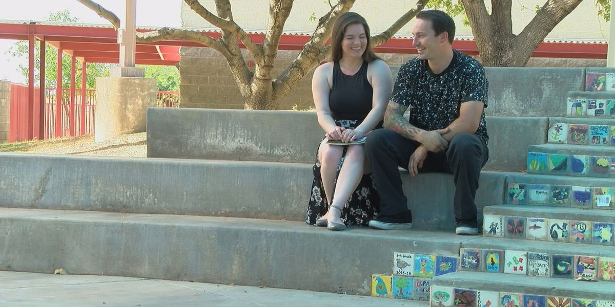 Elementary school sweethearts get engaged at former school