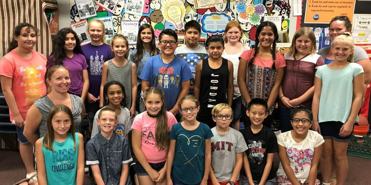 NEHS students at Jack W. Harmon Elementary plan service activities for 2017-18
