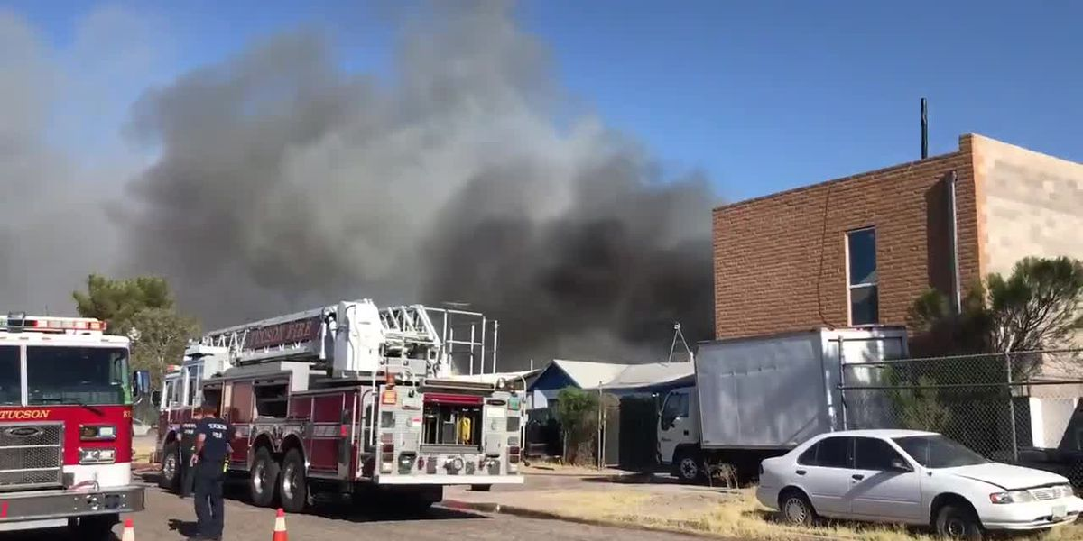 Two-alarm house fire near 17th and Campbell