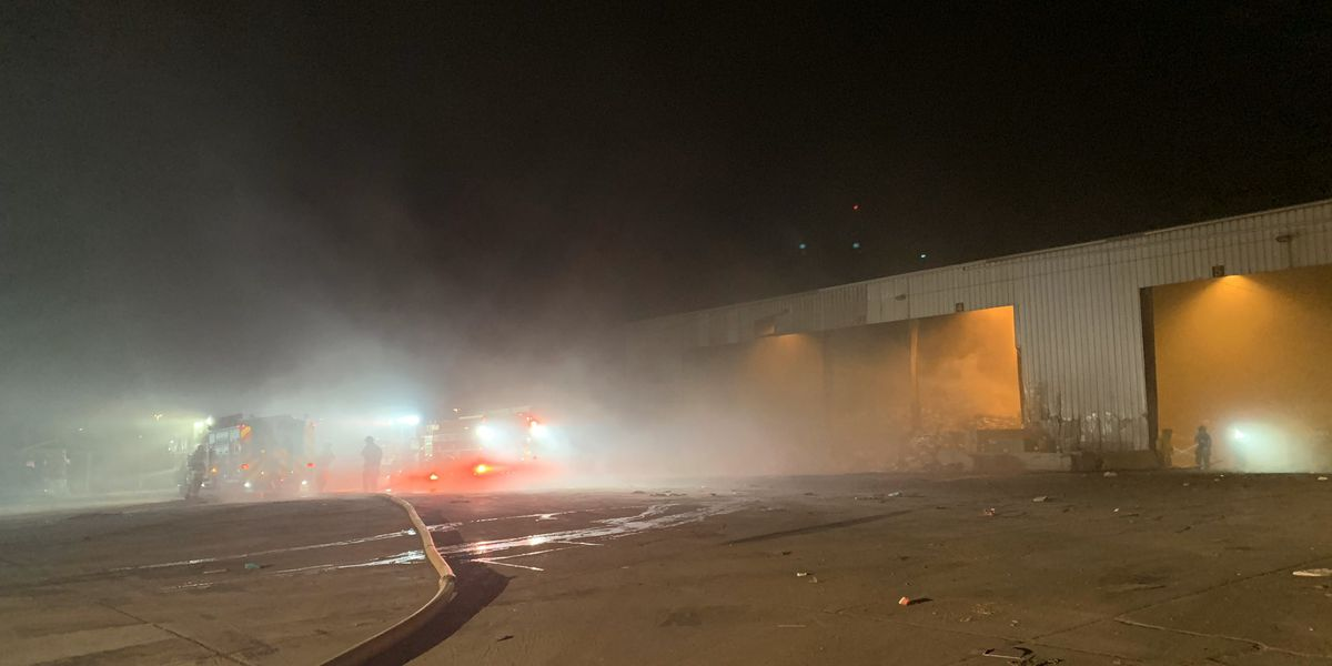 UPDATE: Fire contained at Waste Management trash transfer site