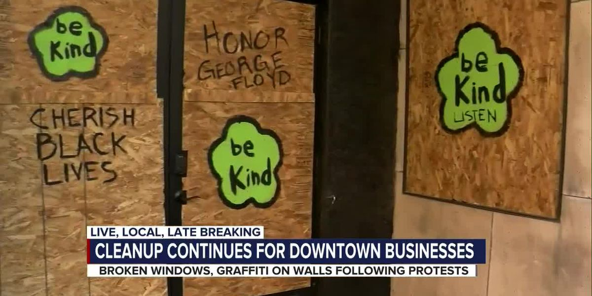 Cleanup continues for downtown businesses