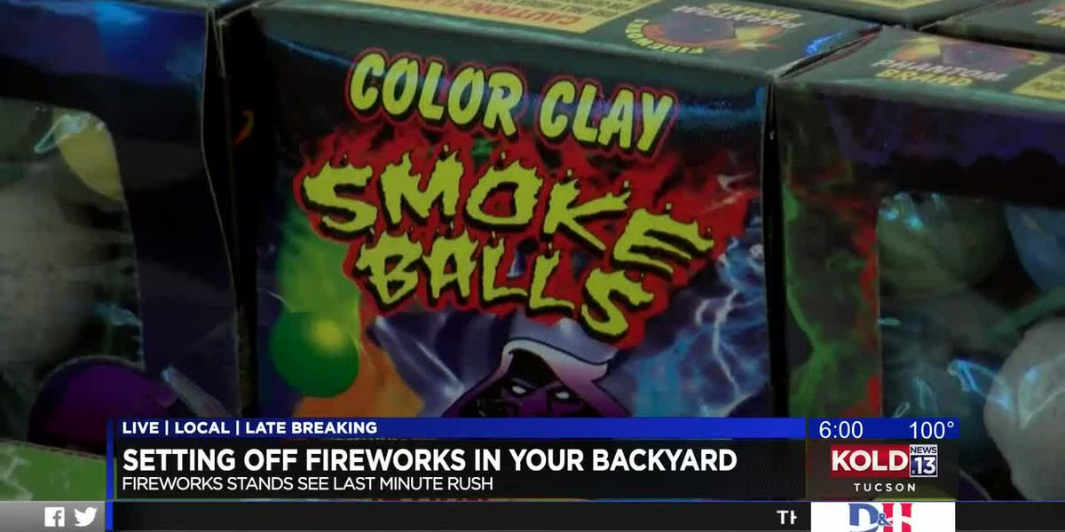 Setting off fireworks in your backyard