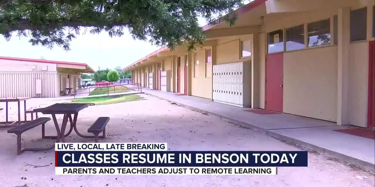 Benson Unified School District logs on for first day of school