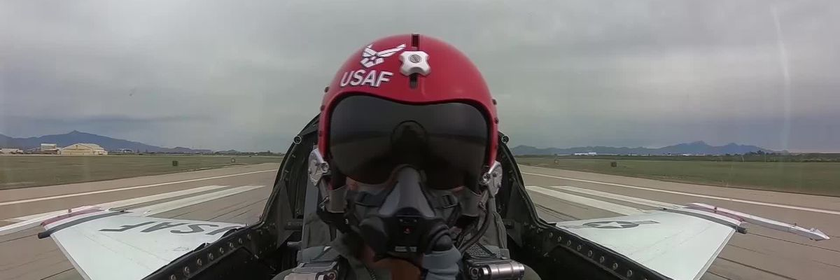 Go Pro highlights from Janice Yu's flight with the USAF Thunderbirds