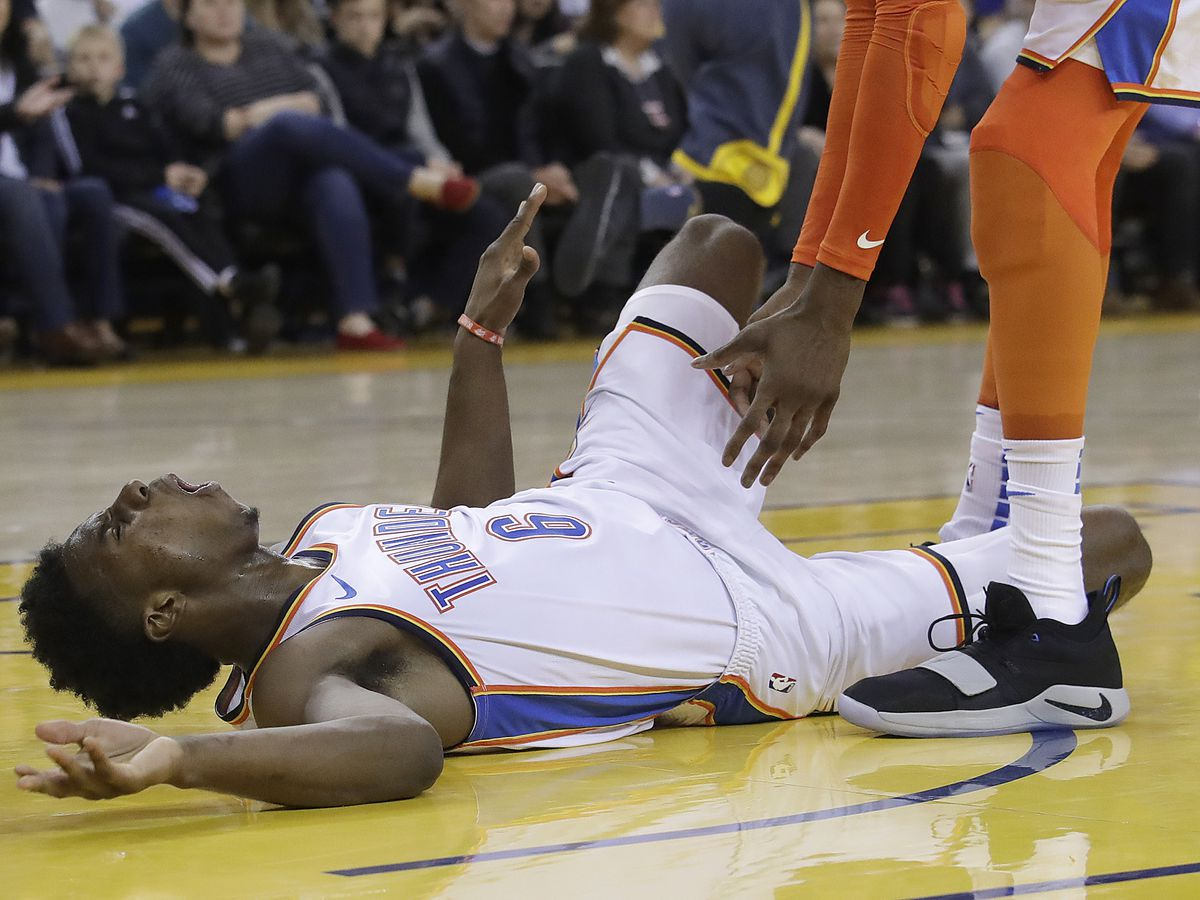 Westbrook stars, Diallo hurt in Thunder's win over Warriors