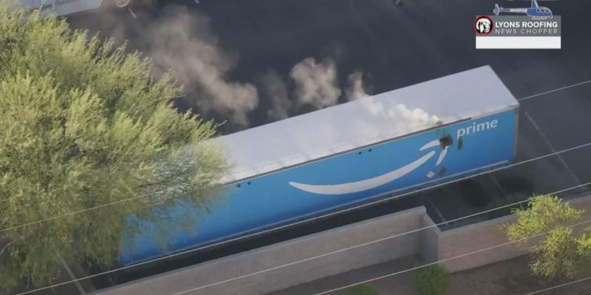 Interstate 10 closed due to hazmat fire at Amazon warehouse in Phoenix