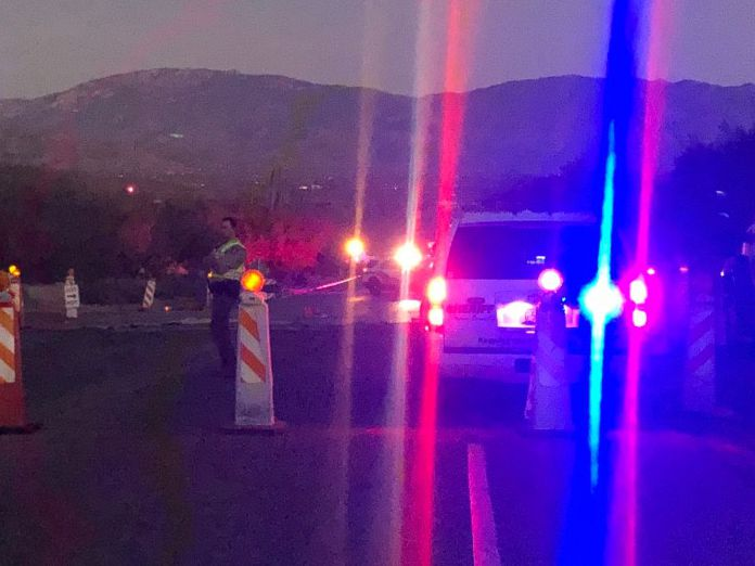 TRAFFIC: Water line break closes road in the foothills