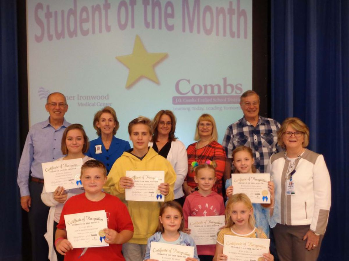 J.O. Combs Unifies School District November Students of the Month