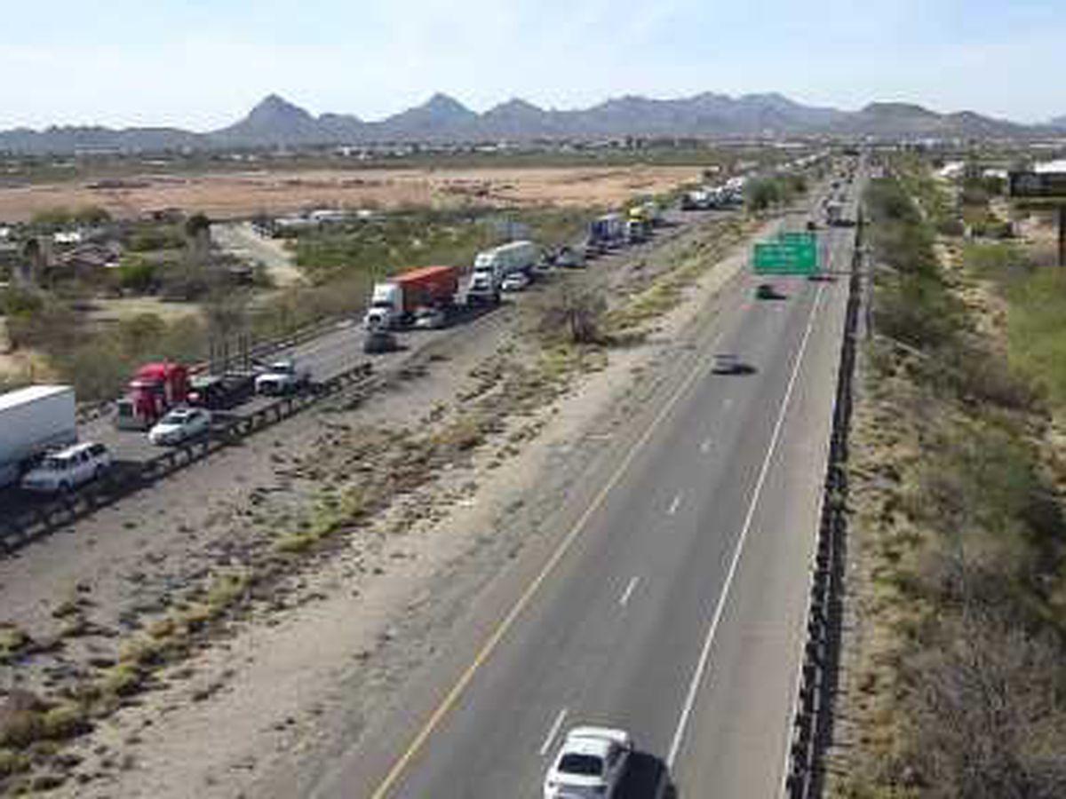 UPDATE: All lanes open after crash on I-10 eastbound at Palo Verde