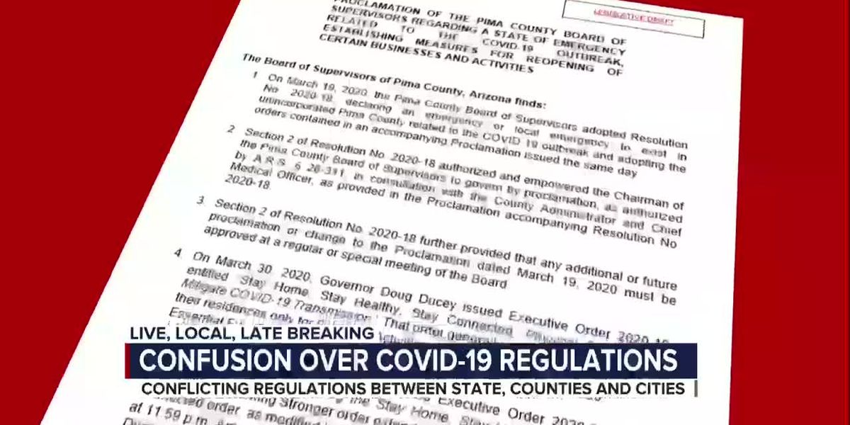 Conflicting regulations between state, counties and cities following COVID-19 outbreak