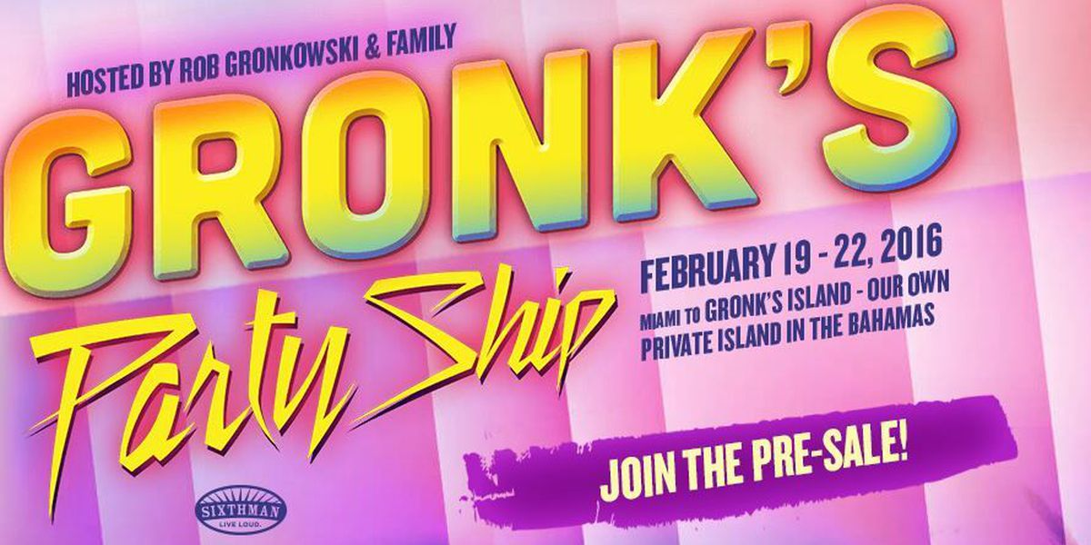 Gronk's party ship about to set sail