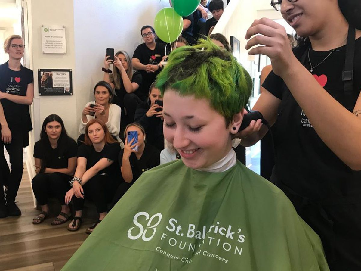 """""""It's just hair"""" Women shave heads for cancer research"""