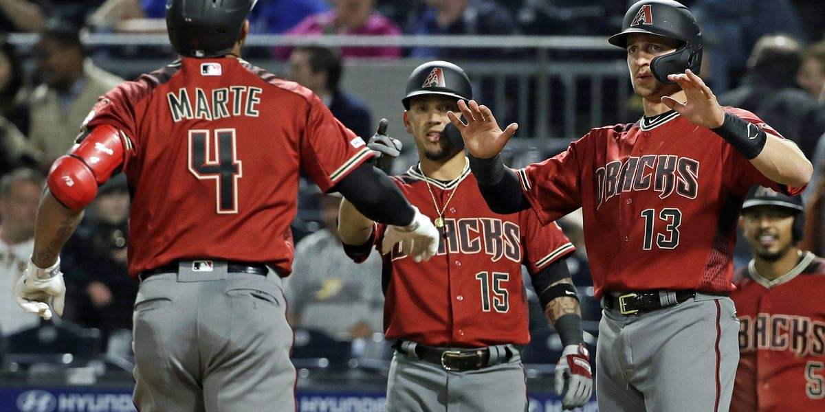 Marte homers twice, D-Backs win 9th straight at Pittsburgh