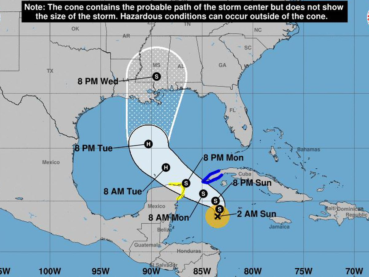 Tropical Storm Zeta forecast to intensify into hurricane
