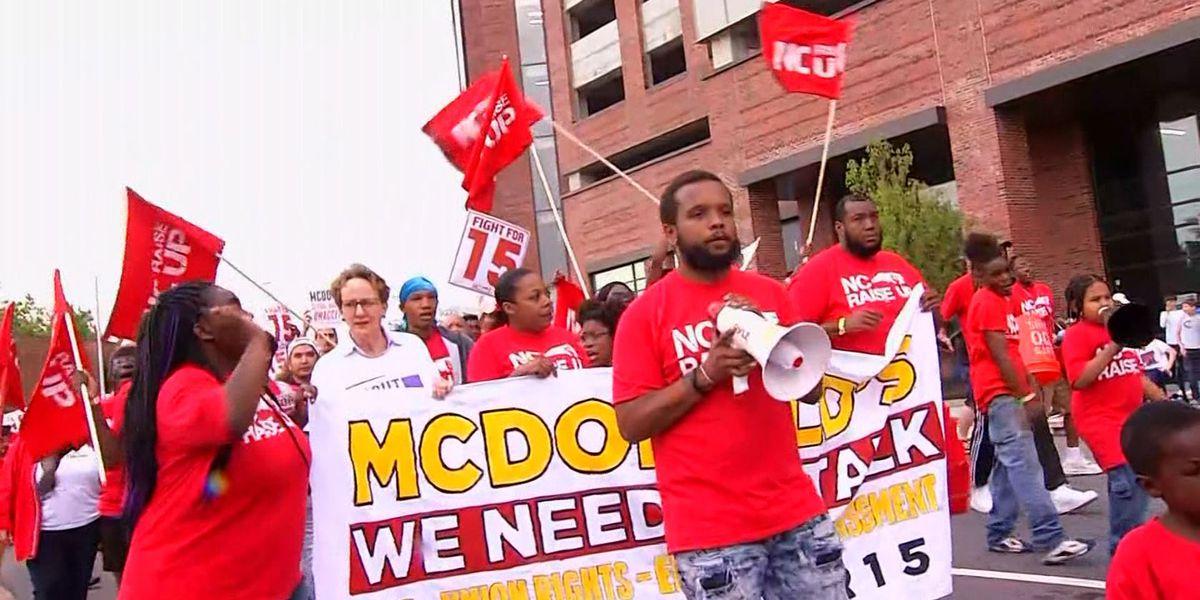 McDonald's workers demand $15 an hour in rallies across nation