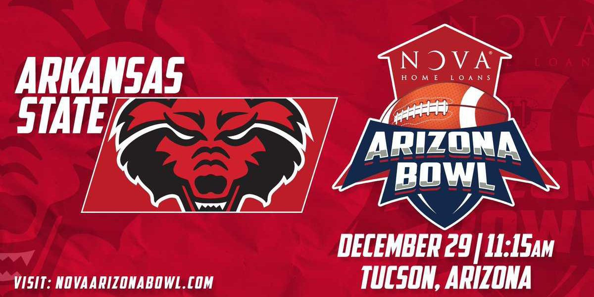 Arkansas State to play in the NOVA Home Loans Arizona Bowl
