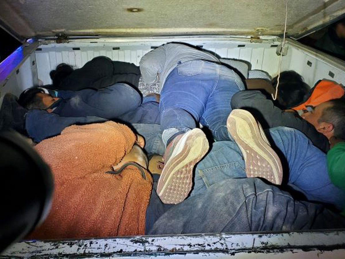 AZ Border Patrol agents find migrants stuffed in truck bed