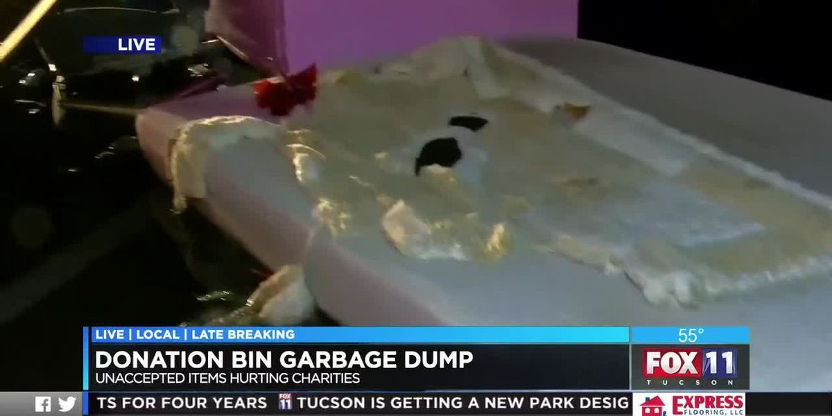Holidays bring trash trouble for donation bins throughout Tucson area