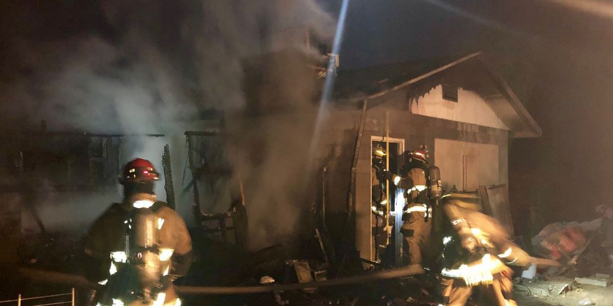 No one injured in early morning shed fire off Ajo Way