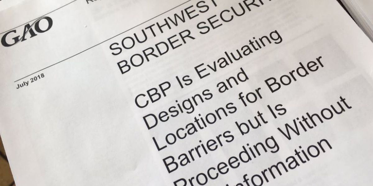KOLD INVESTIGATES: GAO report on border wall construction