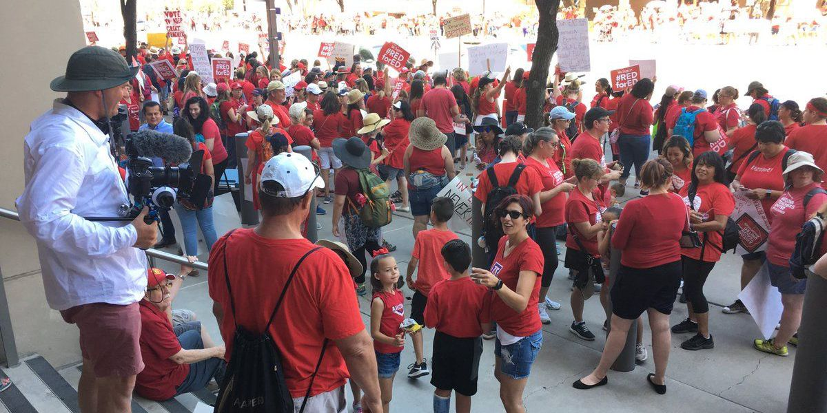 Teacher walkouts continue for a third day