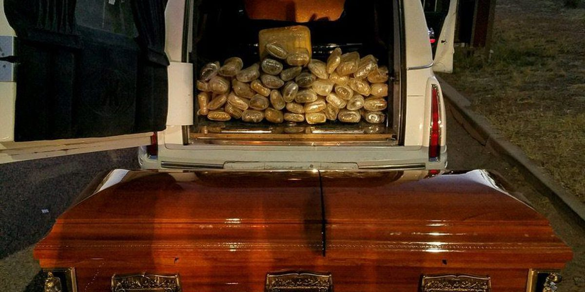 Border Patrol finds 67 pounds of marijuana in hearse