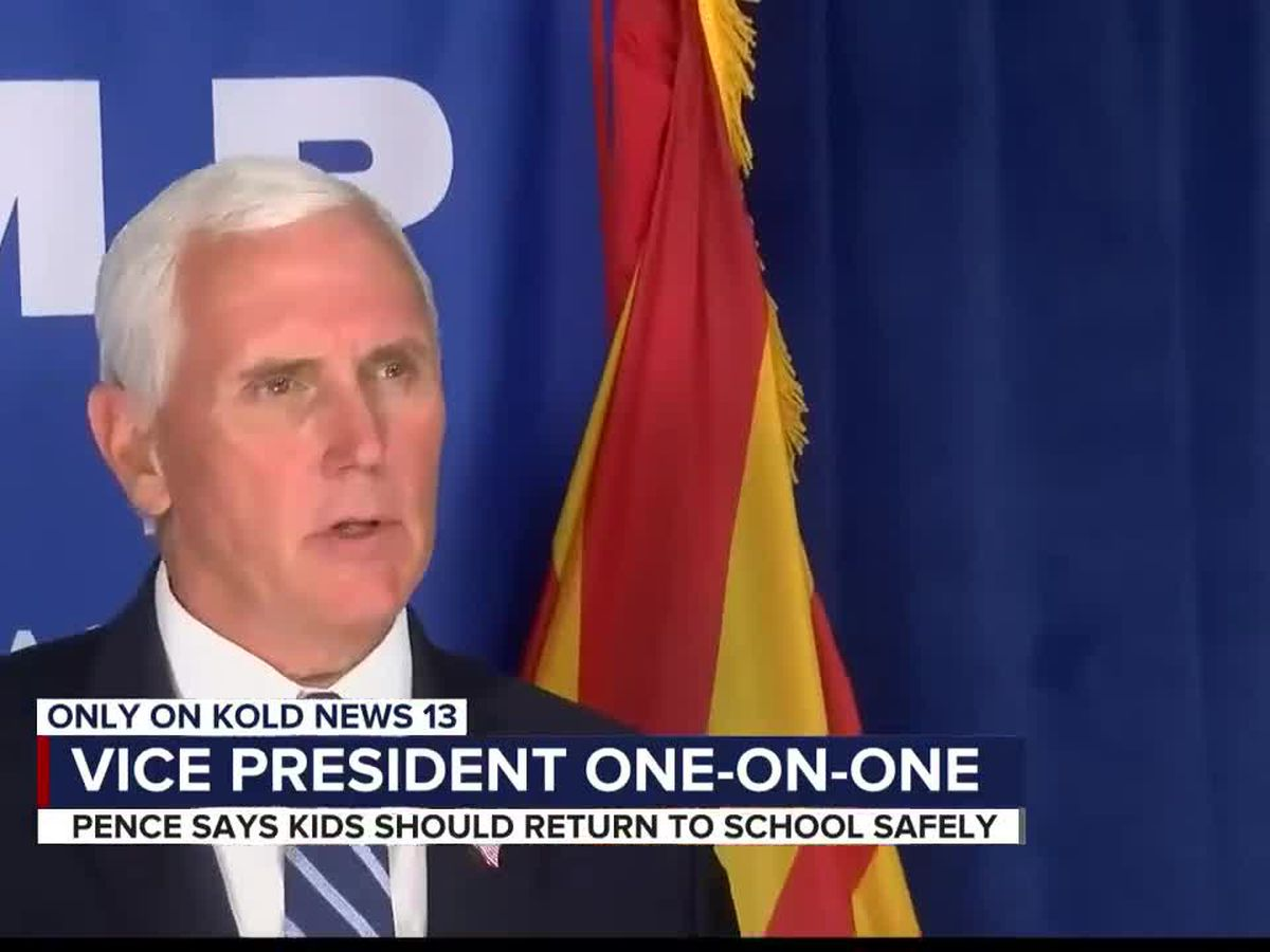 Vice President Pence visits AZ, talks about reopening classrooms
