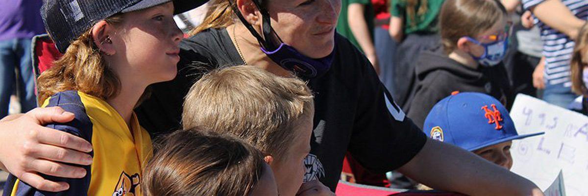 Leighton Accardo's spirit guides Lyndsey Fry through 96-mile rollerblading fundraiser