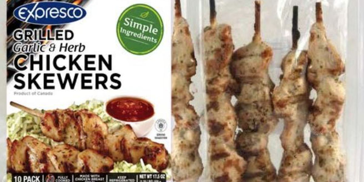 Chicken skewers recalled due to possible listeria contamination