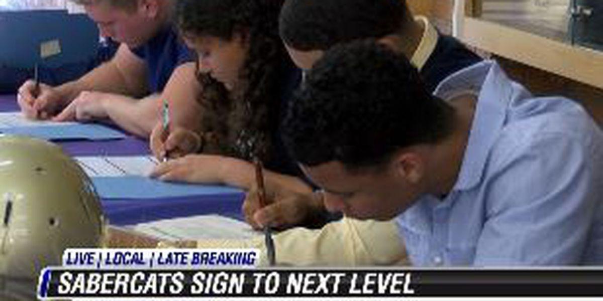 Local athletes sign their LOI