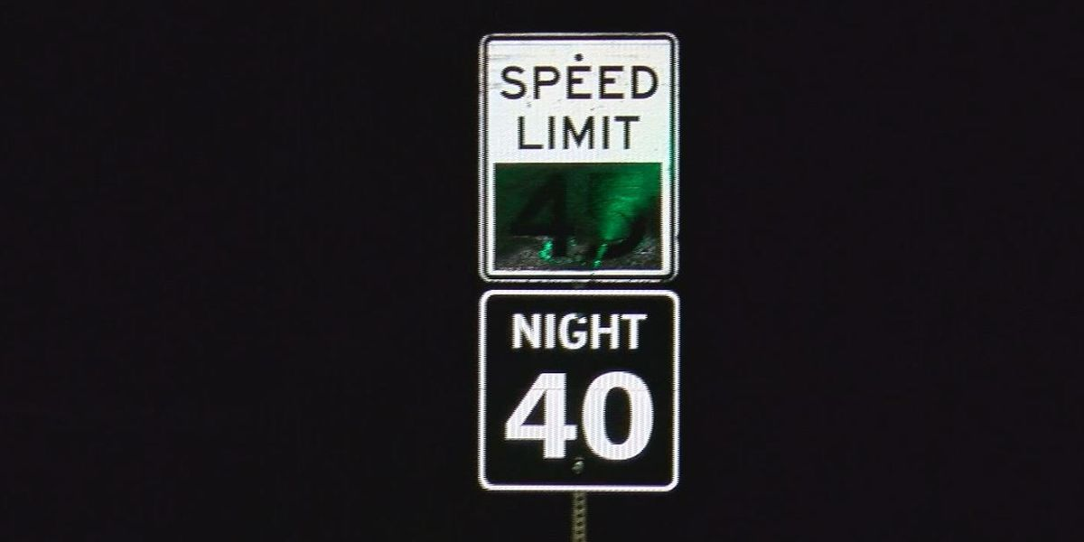 Could adding nighttime speed limit signs help decrease traffic deaths?