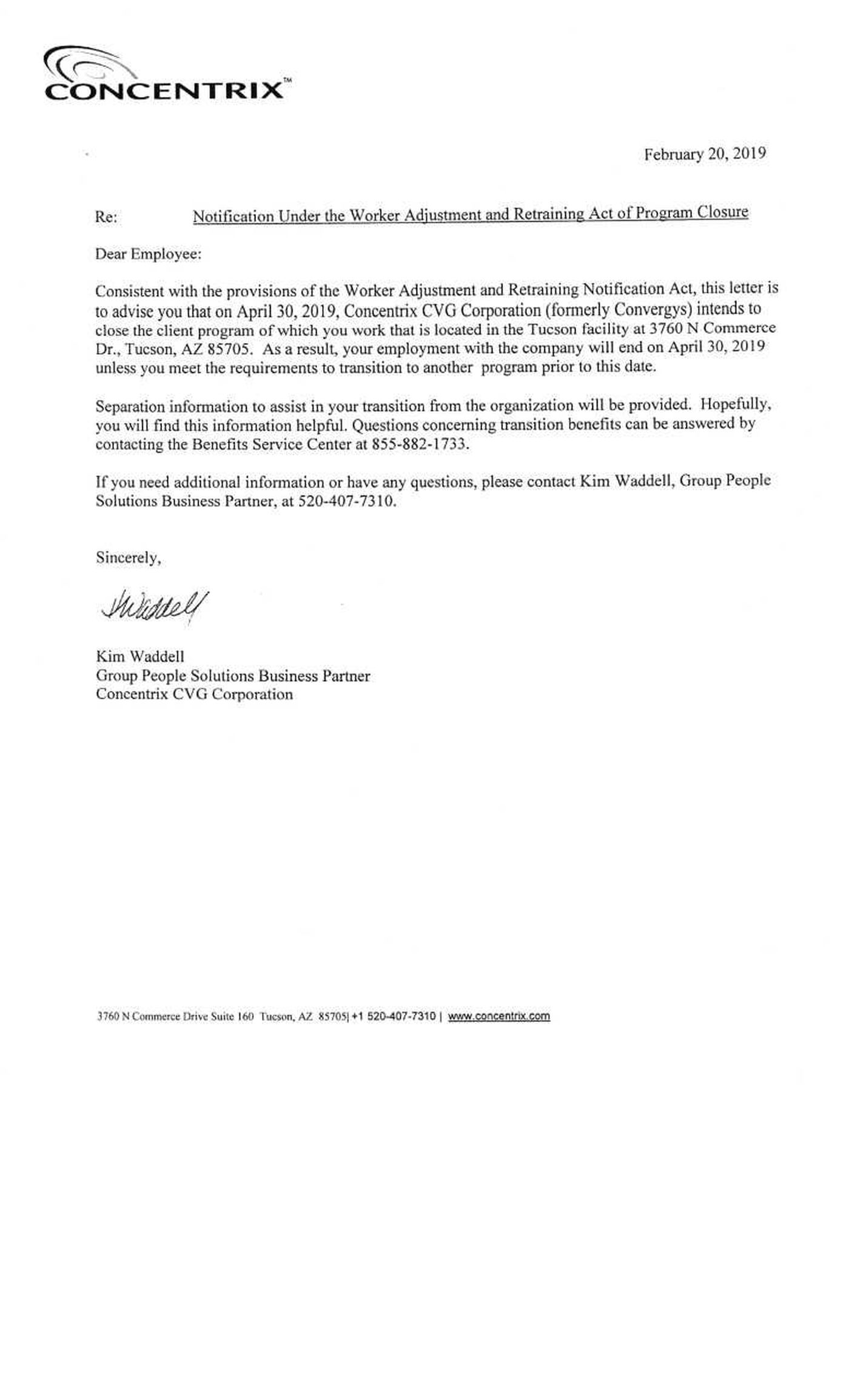 Layoff Letter To Employee from www.kold.com