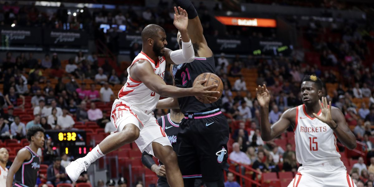 Chris Paul of Houston Rockets out indefinitely with strained left hamstring