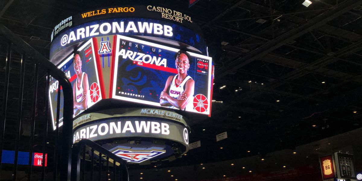 Thousands of fans pack the stands to cheer on UA women's basketball