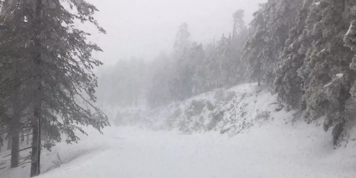 Carretera a Monte Lemmon cerrada tras nevada