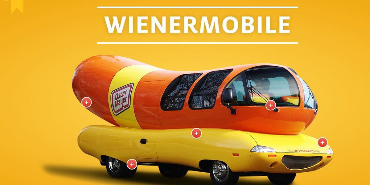 Oscar Mayer Wienermobile in Tucson this weekend