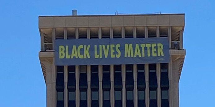 Tucson unveils Black Lives Matter message at City Hall